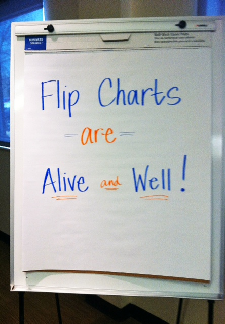 flip charts aren t dead so maybe we should get better at using them