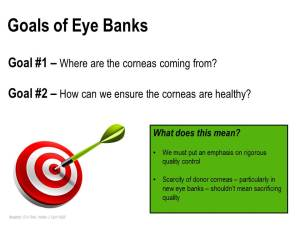 Trick out my PPT - Goals of Eye Banks - MB SLIDE 1