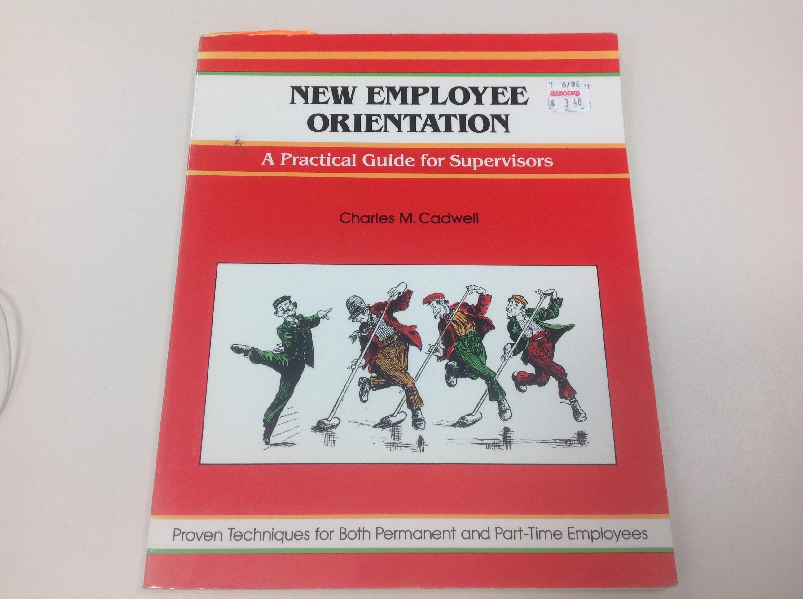 new hire orientation new employee orientation book circa 1988